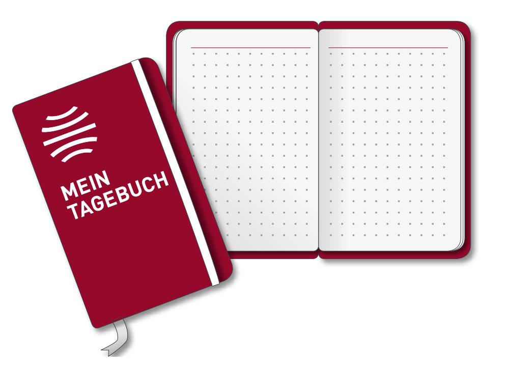 Werbeformat Tagebuch Zugabeartikel Incentive
