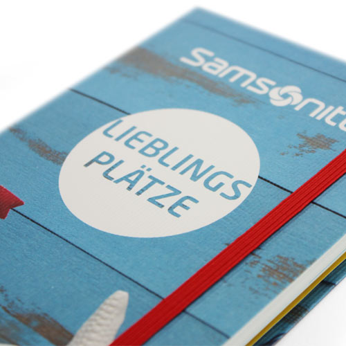 Samsonite Reisetagebuch Kundenbindung Zugabeartikel