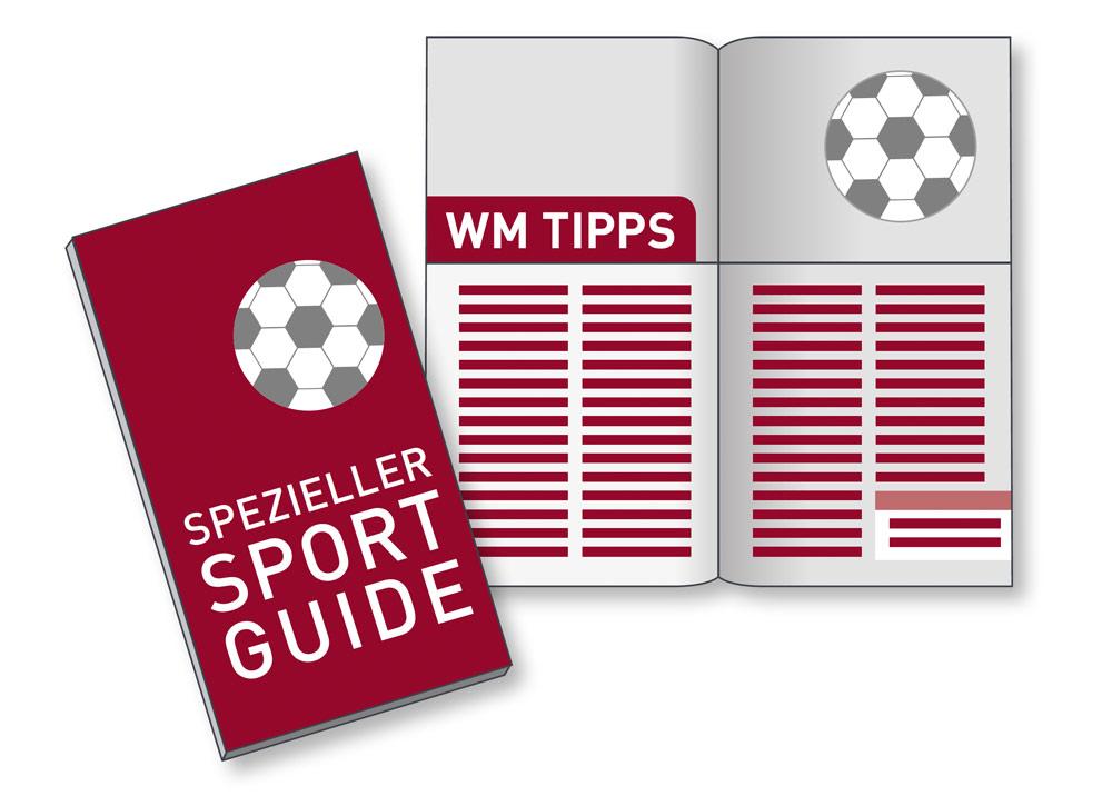 Zielgruppengerechte Ansprache Sportuguide WM Tipps Zugabeartikel