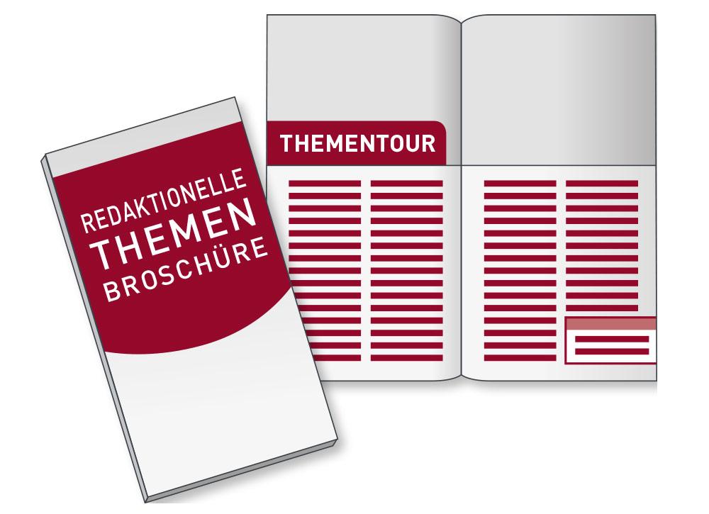 Redaktionelle Themen Broschüre Thementour Markenkommunikation