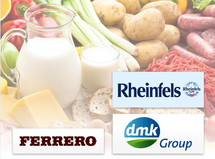 Rheinfels Quelle Ferrero dmk Group Logos Marken