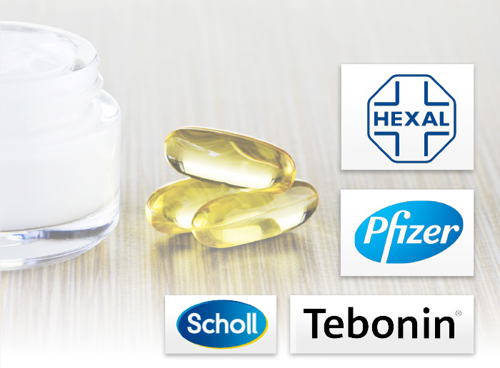 Pharma Hexal Pfizer Tebonin Scholl Logo Marken