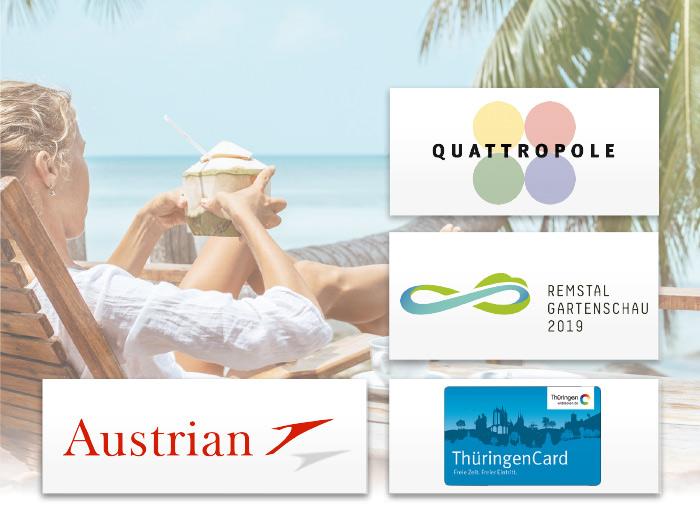 Quattropole Remstal Gartenschau 2019 Thüringen Card Austrian Airlines Kunden Logos