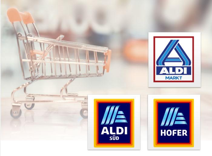 ALDI NORD ALDI SUED HOFER Logos LEH Discount Kunden
