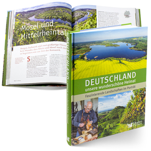 Bildband Deutschland mit Reiseführer und Panoramakarte